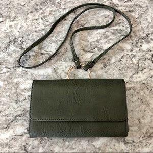 Green Bag Crossbody Bag Small Green Clutch Bag